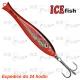Pilker ICE Fish 3D - kolor czerwony